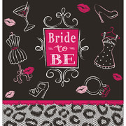 Bride To Be Bridal Bash Border Print Plastic Tablecover (137cmx259cm) Pk 1