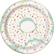 Donut Party 7in. Paper Plates Pk 8