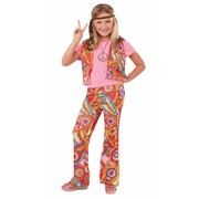 Child Hippie Girl Costume (Large, 12-14 Years)