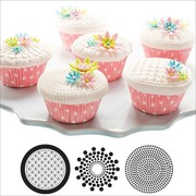 Cupcake & Cookie Texture Tops - Geometric Design Pk3