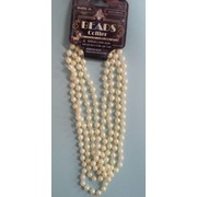 Flapper Bead Pearl Necklace Beige (180cm) Pk 1