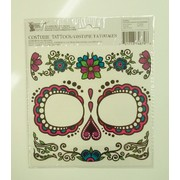 Day of the Dead Female Face Tattoos (1 Sheet)