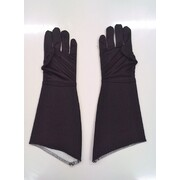Child Black Super Hero Gauntlet Gloves (1 Pair)