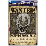 Halloween Wanted Clown Poster Decoration Pk 2