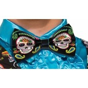 Adult Day of the Dead Bow Tie Pk 1