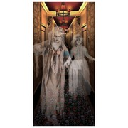 Halloween Hallway with Spirits Poster Decoration (76cm x 152cm) Pk 1