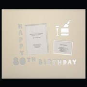 Signature Mat Happy Birthday 80 Silver Pk1
