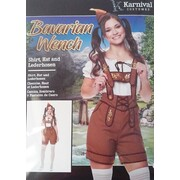 Adult Bavarian Wench Oktoberfest Costume (Small, 8-10)