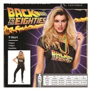 Adult Female Back To The Eighties Costume T-Shirt (Medium, 12-14)