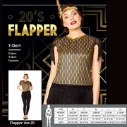 Adult 20's Black & Gold Flapper Shirt (Small, 8-10) Pk 1
