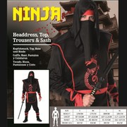 Adult Ninja Costume (Large) Pk 1