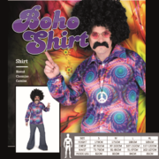 Adult 70's Boho Hippie Shirt Costume (Large, 107-112cm) Pk 1 (SHIRT ONLY)