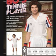Adult 80's Tennis Player Costume (Large, 107-112cm)