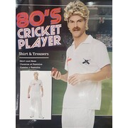 Adult 80's Cricket Player Costume (Large, 107-112cm)