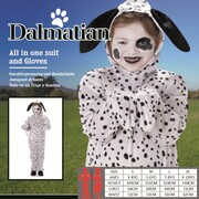 Child Dalmatian One Piece Suit Costume (Medium, 5-6 Years)