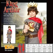 Child King Arthur Costume (Large, 7-8 Years)