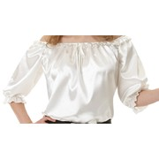Adult Lady Pirate Ivory Costume Blouse (One Size) Pk 1