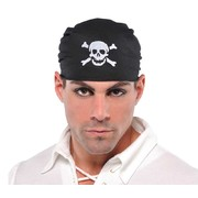 Black Pirate Bandana with Skull Pk 1
