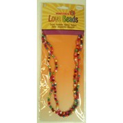 1960's Hippie Festival Love Beads Necklace Pk 1