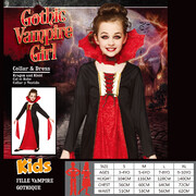 Child Gothic Vampiress Halloween Costume (Medium, 5-6 Years) Pk 1