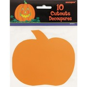 Halloween Mini Pumpkin Cutouts Pk 10