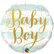 Baby Boy Striped 18in. Foil Balloon Pk 1
