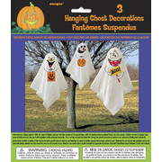 Halloween Ghosts Hanging Decorations with Balloons & Ties Pk 3