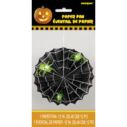 Halloween Spider Web Hanging Paper Fan Decoration Pk 1
