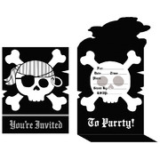 Pirate Parrty! Invitation and Envelopes Pk 8