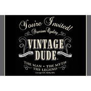 Vintage Dude Invitations & Envelopes Pk 8