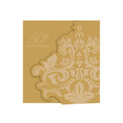 Gold 50th Anniversary Invitations Pk 25