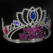Princess Party Tiara - Happy Birthday Gem Pk1