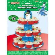 Christmas Snowman Cupcake Stand for 24 Cupcakes Pk1