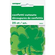 Assorted Colour St. Patrick's Day Shamrock Confetti Cutouts (6.5cm x 7cm) Pk 25