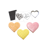 Cookie Textured Set - Hearts Pk1