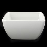 White Melamine Party Bowl - Square 130x130x70mm Pk1