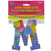 Banner Jointed Letter M Pk1