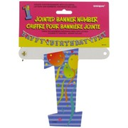 Banner Jointed Number 1 Pk1