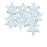 Mini Christmas Snowflake Cutouts Pk10