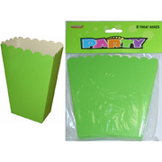 Lime Green Cardboard Party Treat Boxes Pk 8