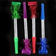 Party Blowouts - Long Fringed Squawkers Pk4 (Assorted Colours)
