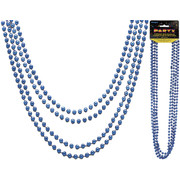 Blue Bead Necklaces (32in) Pk 4