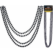 Black Bead Necklace (32in) Pk 4