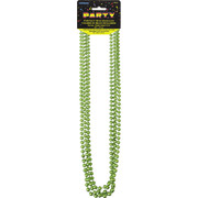 Lime Green Bead Necklace (32in) Pk 4