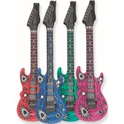 Inflatable Guitar 42in Assorted colours Pk1