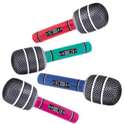 Inflatable Assorted Giant Microphone Pk 1 (1 MICROPHONE ONLY)