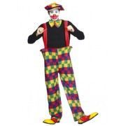 Adult Male Hooped Clown Costume (Medium, 38-40)
