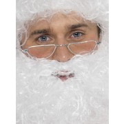 Santa Wire Framed Half Moon Glasses - No Lens Pk 1