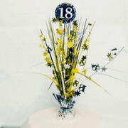 18 Gold, Silver & Black Foil Centrepiece Weight Pk 1