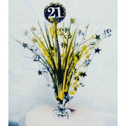 21 Gold, Silver & Black Foil Centrepiece Weight Pk 1